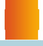 hexagon, logo, orange hexagon